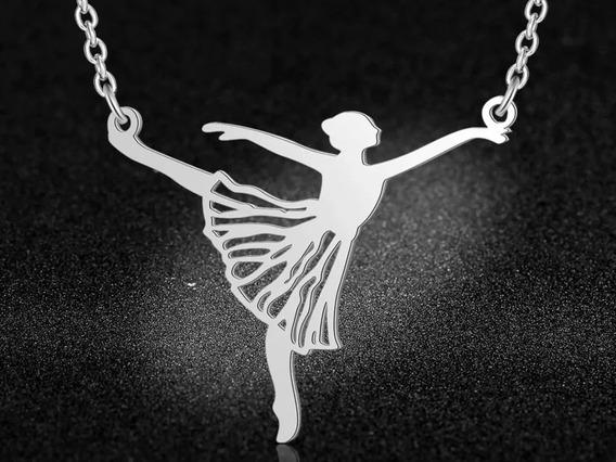 Colar Bailarina De Aço Inoxidável