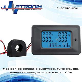 Amperimetro Voltimetro Medidor De Consumo Electrico
