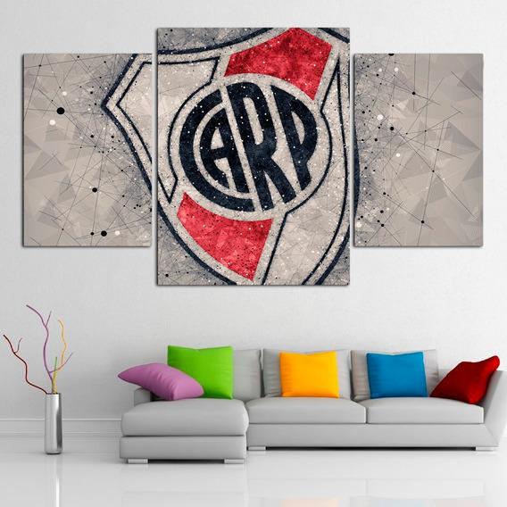 Cuadros Tripticos Modernos Futbol River Plate
