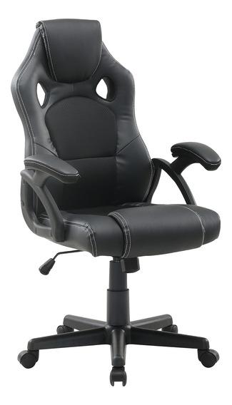 Cadeira Escritório Gamer Giratória Presidente Predator Preta