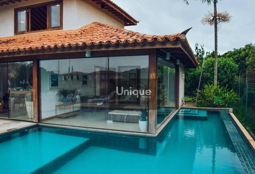 Imagem 1 de 30 de Brava - Casa Em Condomínio Com Heliponto E Lazer, 5 Dormitórios - Ca1097