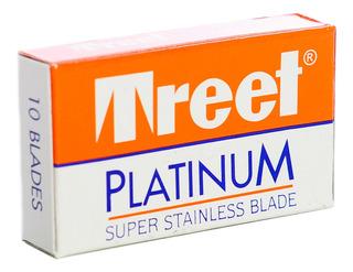 Treet Platinum Hojas De Afeitar Para Navaja Barbería X 10