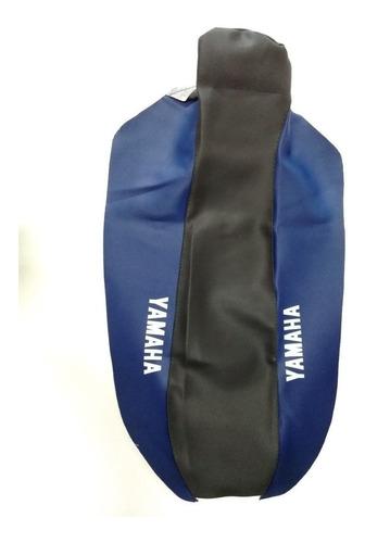 Capa Banco Moto Yamaha Xtz 250 Lander Preta / Azul  07 À 19
