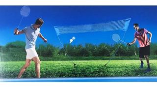 Set De Badminton Incluye Red 2 Raquetas 2 Gallitos Z4
