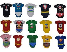 Kit 10 Body Infantil Tematico Roupa Para Bebe Oferta Revenda