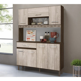Cozinha Compacta 7 Portas 1 Gaveta Completa Kit 1,2 Mz