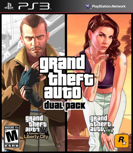 Grand Theft Auto Gta Dual Pack (4-5) Digita! Ps3