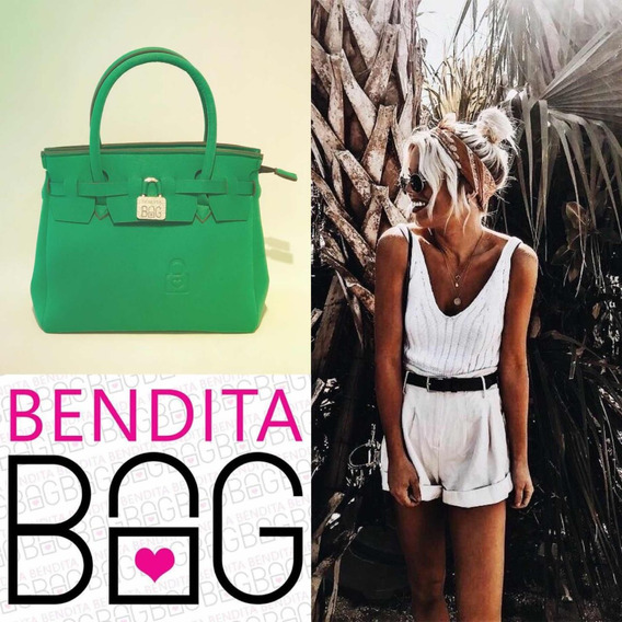 Cartera Neoprene Bendita Bag L Verde
