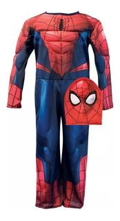 Spiderman Disfraz Hombre Araña Musculos Newtoys T0, 1 ,2