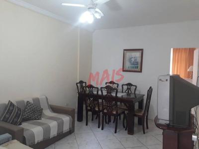 Apartamento Mobiliado, Com 2 Dormitórios Para Alugar, 68 M² Por R$ 1.800/mês - Embaré - Santos/sp - Ap5107