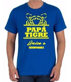 Camiseta Estampada Día Del Padre / Papá Tigre / Incomparable