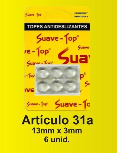 Suave Top Tope Antideslizante 13mmx3mm Blister X 6 U Jasper