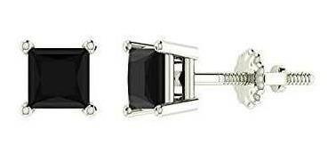 Imagen 1 de 4 de Aretes De Diamantes Negros Para Mujeres, Hombres, Corte Prin