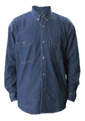 Camisa Jean Dotación Manga Larga Liviana 8 Onzas Hombre