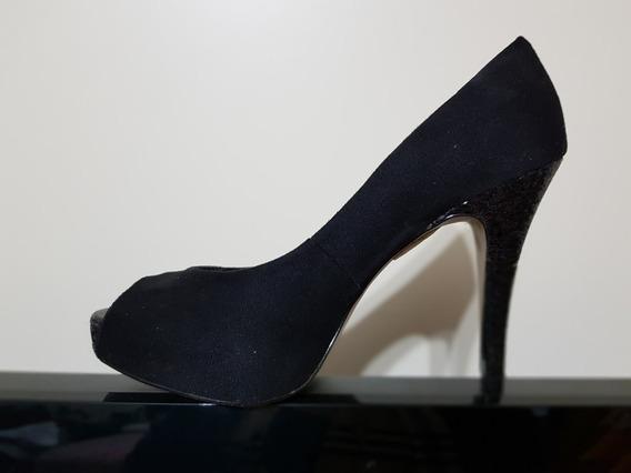 Zapatos De Fiesta Negros N° 40 Via Uno - Impecables