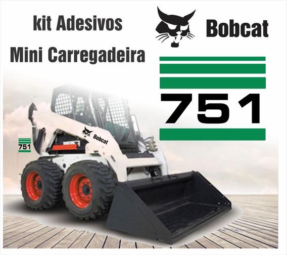 Jogo Faixas Adesivo Minicarregadeira Bobcat 751