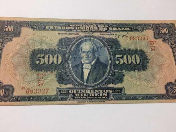Cédula 500 Mil Réis R-162a Ano 1924