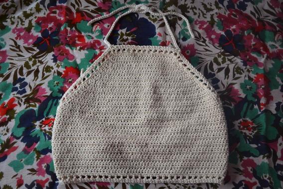 Crop Top Tejido Crochet
