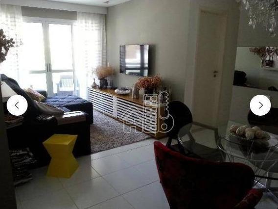 Apartamento Com 3 Dormitórios À Venda, 93 M² Por R$ 710.000,00 - Charitas - Niterói/rj - Ap3104