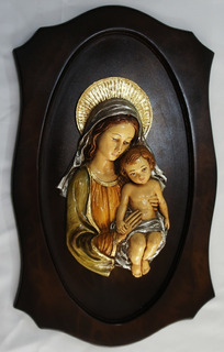 Virgen Madonna En Retablo. Flete Gratis.