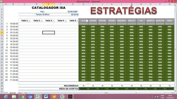 Catalogador Isa - Opções Binárias