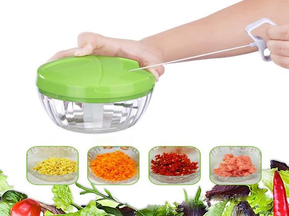 Mini Processador Manual Corda Triturador De Legumes Verduras