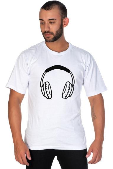 Camiseta Estampada Fone Masculina Ideal Para O Dia A Dia