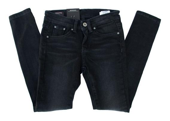 Jeans Pepe London Negro Temporada 2019 Niña