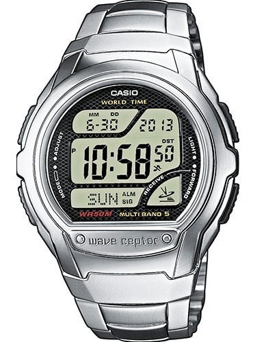 Reloj Casio Wv58da-1av Acero Sumergible Wave Ceptor