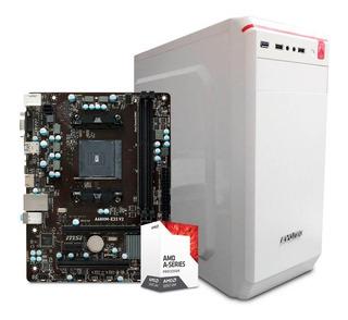 Computadora Pc Cpu Gamer Barata Amd A6 8gb 500gb Radeon 2gb