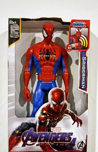 Muñeco Spiderman 30cm Alto / Sonido.