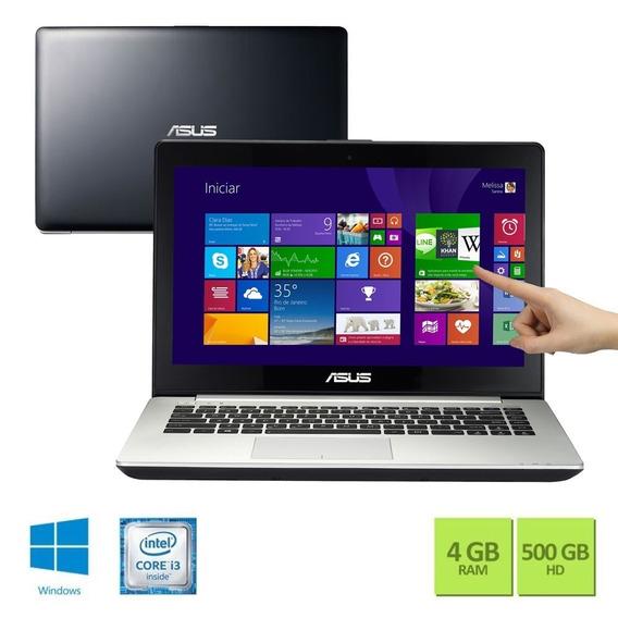 Notebook Asus S400 Intel I3 4gb Ram 500gb Hd Touchscreen