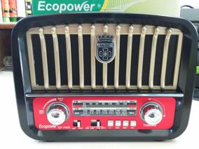 Radio Am Fm Pendriv Cartão Sd Bateria Luz E Pilha Lanterna