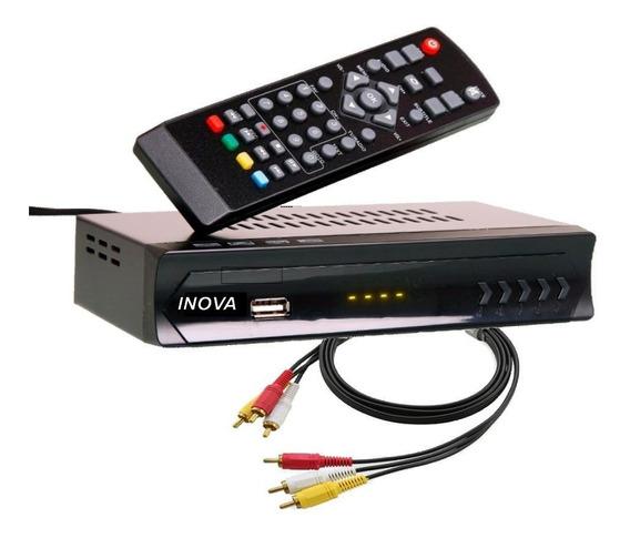 Conversor Digital Receptor Multímidia Para Tv Tubo Led Plasma Função Gravador Rca Full Hd Top Box Inova