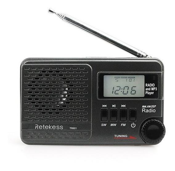 Rádio Retekess Tr601 Am/fm/sw Leitor Mp3 Player Frete Grátis