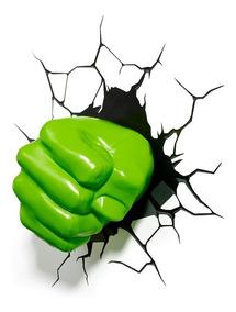 Luminária 3d Light Fx Vingadores Punho Do Hulk