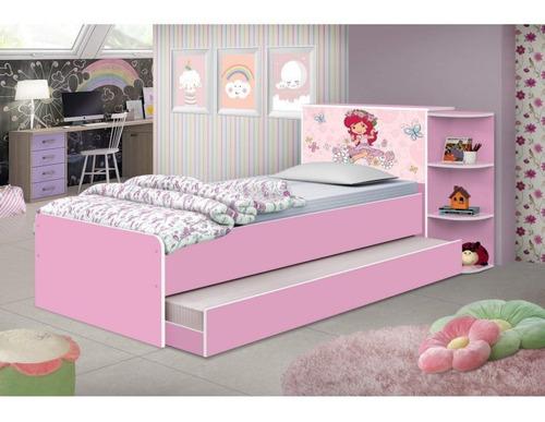 Bicama Infantil Liz Moranguinho J&a Móveis Rosa Cb