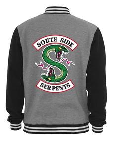Jaqueta Riverdale Serpentes South Blusa Side Casaco Moletom