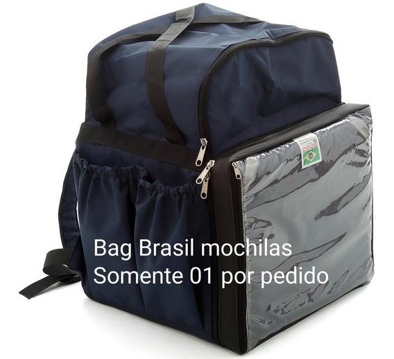 Mochila Bagbrasil Com Bolsão Extra P/ Mais 3 Pizza Cores