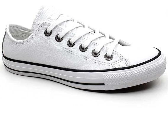 Tênis Couro All Star Converse Ct0603 Tamanhos 45 E 46 Branco