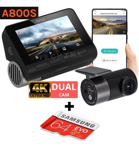 Camera Veicular Automotiva Xiaomi 70mai A800 4k Dual + 64gb