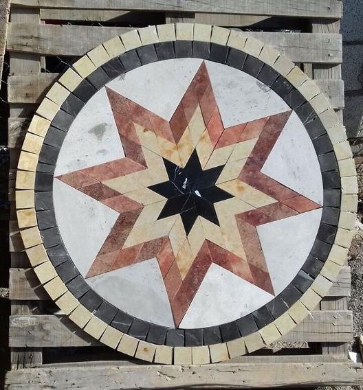 Tapete Mosaico Estrella 3 Colores En Marmol