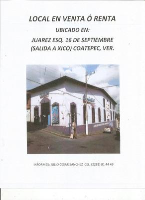 Local En Renta En Coatepec