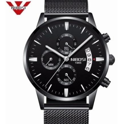 Relógio Masculino De Pulso Adulto Nibosi 2309 Original