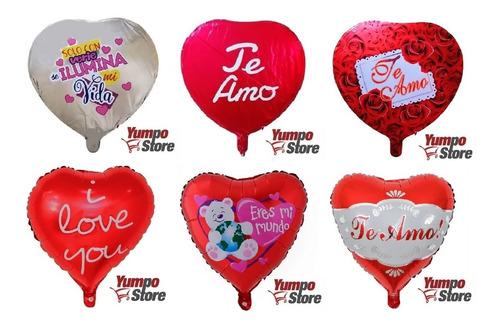 Pack 24 Globos Metalicos De Amor Te Amo Con Varillas