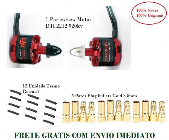 Dji 2212 920kv Motor 100% + Plug Bullets + Termo Retratil