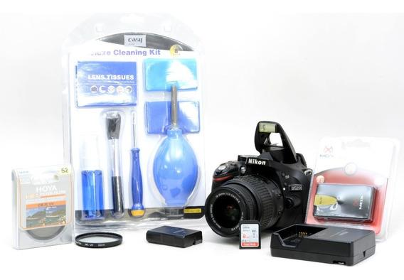 Nikon D5200 + 18-55mm + 2 Filtros + Brindes Novinha
