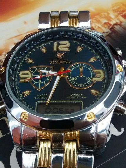 Relógio Masculino Luxo Analógio E Digital Resistente Barato
