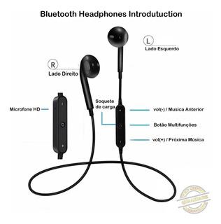 Fone Ouvido Bluetooth Sem Fio Esportivo Universal Estéreo