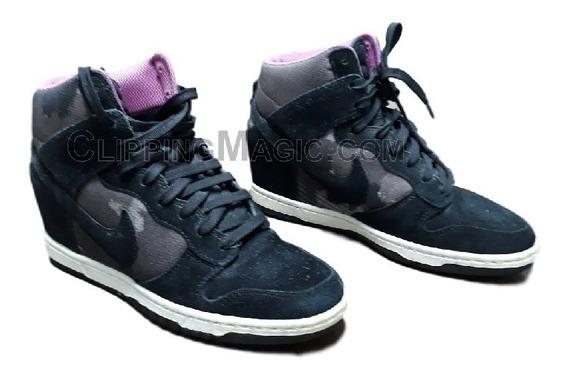Tênis Sneakers Nike Com Salto Embutido Usado